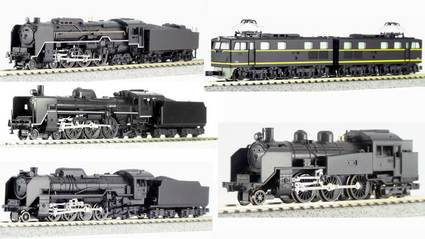 【KATO】C62東海道,C57-180,C11,D51標準,EH10【N gauge】