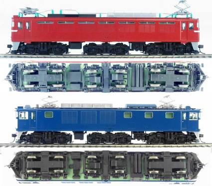 TOMIX EF81とEF64 1000の比較