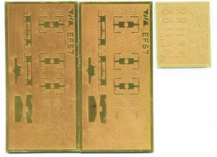 EF57エッチング板と3DCG