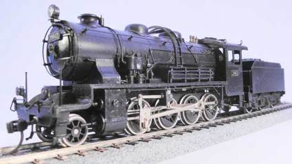 9600形蒸気機関車 左前方全体図