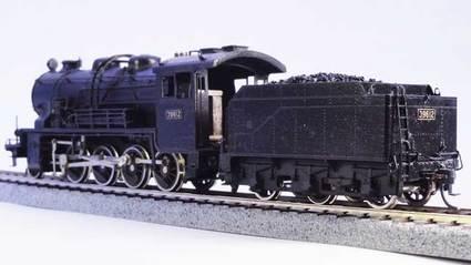 9600形蒸気機関車 左後方図