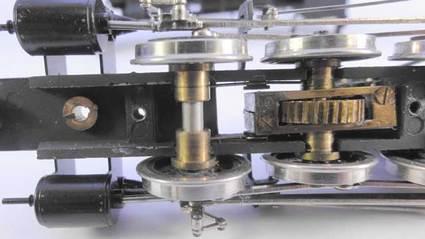 9600形 分解 機関車底面前側図