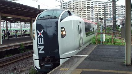 E259系@大船駅到着