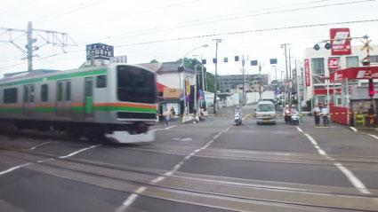 戸塚駅大踏切内写真